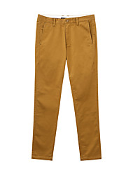 Metersbonwe Men's Solid Brown Jeans PantsStreet chic Winter
