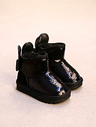 Girl's Boots Comfort Leather Casual Black Gold Peach