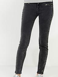 Damen Hose - Street Schick Jeans Baumwolle Dehnbar