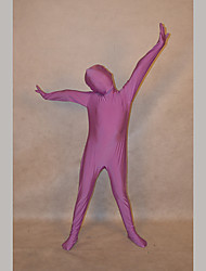 Festival/Holiday Costumes Light Purple Solid Zentai Kid Lycra Fully Covered