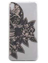 Pour sony xperia e5 xa casquette crâne motif de fleurs haute perméabilité peinture tpu matériel téléphone casier