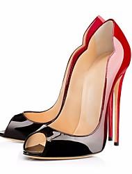 Feminino-Saltos-Others / Sapatos com Bolsa Combinando-Salto Agulha-Azul / Amêndoa / Preto e Vermelho / Leopardo-Couro Ecológico-Casamento