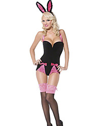 Cosplay Costumes Bunny Girls Movie Cosplay Pink Solid Leotard/Onesie / Headwear Halloween / Carnival Female Polyester
