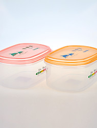 прямоугольный прозрачный ящик для хранения с цветной 1700ml крышкой
