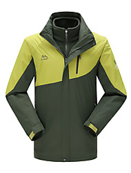 Men's 3-in-1 Jackets Waterproof Thermal / Warm Windproof Softshell Jacket Windbreakers for Skiing Camping / Hiking Climbing Skating