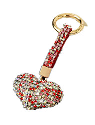 Key Chain Leisure Hobby Key Chain / Diamond / Gleam Heart-Shaped Metal Red For Boys / For Girls