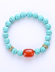 Bracelet Strand Bracelet Agate Gem Amber Turquoise Halloween Birthday Congratulations Business Gift Party Casual Jewelry GiftBlack White