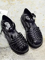 Women's Sandals Comfort PU Casual Black / Brown