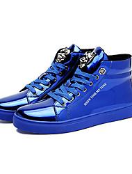Femme-Décontracté-Bleu Rouge-Talon Plat-Confort-Baskets-Polyuréthane