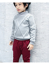 Pull à capuche & Sweatshirt Garçon Décontracté / Quotidien Couleur Pleine Coton Hiver / Automne Manches longues Court