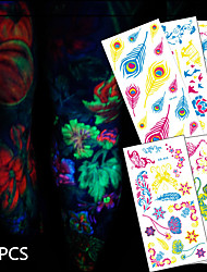20 Tattoo Aufkleber Tier Serie / Blumen Serie / Totem Serie / Andere / Cartoon-Serie / Romantische SeriesNon Toxic / Muster / Halloween /