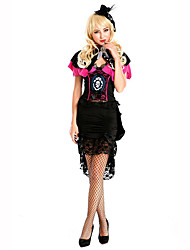 Queen Fairytale Festival/Holiday Halloween Costumes Black Pink Solid Dress HeadwearHalloween Christmas Carnival Children's Day New Year