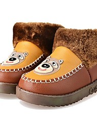 Girl's Boots Comfort Leatherette Casual Blue / Brown / Yellow / Pink / Orange