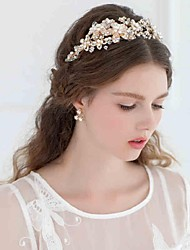 Women's Rhinestone / Alloy Headpiece-Wedding / Casual Headbands / Flowers / Head Chain / Hair Tool 1 PieceSilver /
