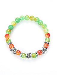 The European And American Fashion Bracelet Colorful Natural Stone Bracelet