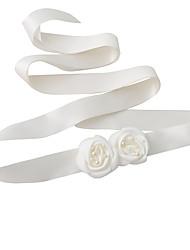 Satin Wedding / Party/ Evening / Dailywear Sash-Floral / Imitation Pearl Women's 98 ½in(250cm) Floral / Imitation Pearl