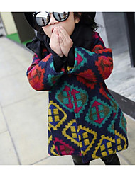 Girl Casual/Daily Solid Jacket & Coat,Cotton Winter Long Sleeve