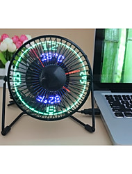 Neuheit Clock Fan with Floating LED Timeand  Temperature  Display 130cm 145*168*115 Schwarz