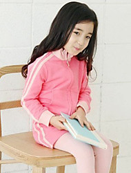 Girl Casual/Daily / Sports Solid Sets,Cotton Winter / Fall Clothing Set