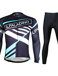 Ilpaladin Sport Men Long Sleeve Cycling Jerseys Suit CT732