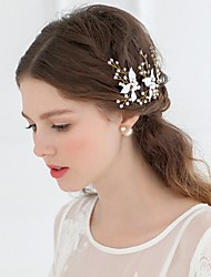 Women's Rhinestone / Alloy / Imitation Pearl Headpiece-Wedding / Special OccasionTiaras / Headbands / Flowers / Head Chain 3 Pieces