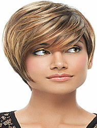 Cheap Price Short Synthetic Wigs For Women Fashion Peruca Wig With Bangs Pelucas Sinteticas Straight Hair Synthetic Wig