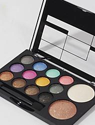 10 Paleta de Sombras Brilho Paleta da sombra Pó Normal Maquiagem para o Dia A Dia