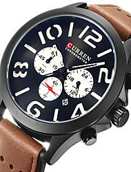 Men's Sport Watch Military Watch Dress Watch Fashion Watch Wrist watch Calendar Punk Quartz Japanese Quartz Leather BandVintage Cool