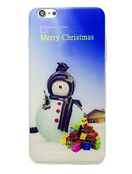 Pour Motif Coque Coque Arrière Coque Noël Flexible TPU pour AppleiPhone 7 Plus / iPhone 7 / iPhone 6s Plus/6 Plus / iPhone 6s/6 / iPhone