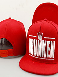 Hip-hop baseball cap embroidery small crown DRUNKEN letters canvas Breathable / Comfortable