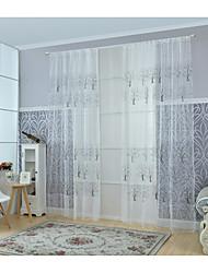 Un Panneau Le traitement de fenêtre Moderne Salle de séjour Mélange Poly/Coton Matériel Rideaux opaques Décoration d'intérieur For Fenêtre