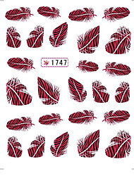 3 Sheet Nail Art Sticker  Feather  Water Transfer Decals Makeup Cosmetic Nail Art Design