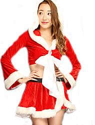 Cosplay Kostüme Santa Anzüge Film Cosplay Rot einfarbig Top / Rock Weihnachten Frau Polyester