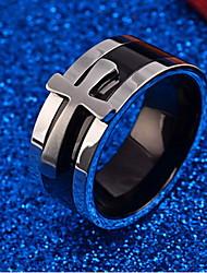 Ringe Alltag Schmuck Titanstahl Herren Ring 1 Stück,Eine Größe Silber