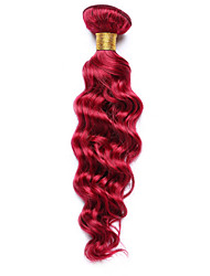 100g/pc Deep Wave 10-14Inch Color Burgundy Human Hair Weaves