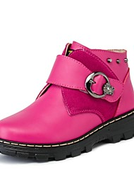 Girl's Boots Spring Fall Winter Others Leather Outdoor Dress Casual Rivet Buckle Red Others