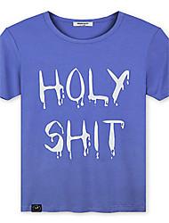 Trenduality® Herren Rundhalsausschnitt Kurze Ärmel T-Shirt Hellblau-43188