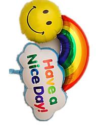 Воздушные шары Квадратная Пластик Радужный Для мальчиков / Для девочек 2-4 года / 5-7 лет / 8-13 лет