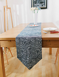 Rectangular Patterned Table Runner , Suede Material Hotel Dining Table / Table Decoration