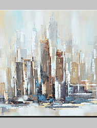 100% Hand-Painted Modern Abstract City Landscape Oil Paintings On Canvas Wall Art For Home Decoration With Stretched Frame Ready To Hang