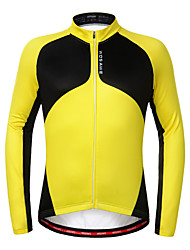 WOSAWE Unisexe Manches longues Vélo Garder au chaud Doublure Polaire Antidérapage Limite les Bactéries Shirt Maillot 100 % Polyester Hiver