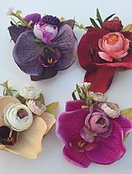 Bouquets de Noiva Rosas Alfinetes de Lapela Casamento / Festa / noite Cetim / Espuma