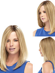 President's Daugther Wearing Daily Wig Fashion Middle Blonde Straight Natural Synthetic Wig Heat Resistant Cheap Wig for European Ladies
