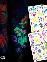 12 Tatuagens Adesivas Séries Animal / Série Florida / Séries Totem / Outros / Série dos desenhos animados / Série românticanão tóxica /