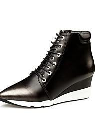 Damen-Stiefel-Kleid-Kunstleder-Keilabsatz-Komfort-Silber / Gold / Bronze