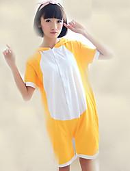 Kigurumi Pijamas Urso / Guaxinim Malha Collant/Pijama Macacão Festival/Celebração Pijamas Animal Amarelo Miscelânea Algodão Kigurumi Para