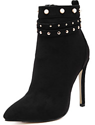 Women's Boots Spring / Fall / Winter Gladiator Fur Office & Career / Party & Evening / Dress / Casual Stiletto Heel Black