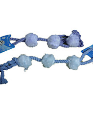 Dog Pet Toys Plush Toy Rope Blue Cotton