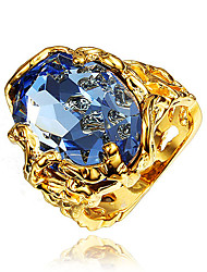 Ring AAA Cubic Zirconia Gold Plated 18K gold Gold Jewelry Wedding Party Daily Casual 1pc