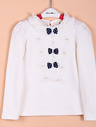 Girl Casual/Daily / Sports / Holiday Solid Blouse,Cotton Spring / Fall Long Sleeve Regular